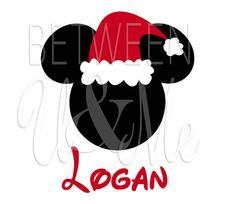 Personalized Santa Mickey Mouse with Hat Disney Iron On Decal Vinyl for Shirt on Etsy, $6.99