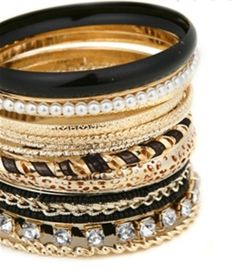 Checkout our #awesome product Fashion Imitation Black Gold Multi Line Bangles / Bracelet - Fashion Imitation Black Gold Multi Line Bangles / Bracelet - Price: $65.00. Buy now at http://www.arrascreations.com/fashion-imitation-black-gold-multi-line-bangles-bracelet.html
