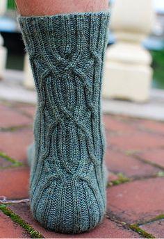 Angler's Loop Socks by Andrea Mules in Canopy Fingering: Laguna