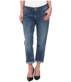 Levi's® Womens Boyfriend Jeans Sun Down - I liked the thickness of the denim (more like REAL jeans) but they are VERY short, even when uncuffed
