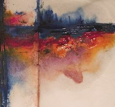 Abstract Art Watercolor - Glistening Thoughts