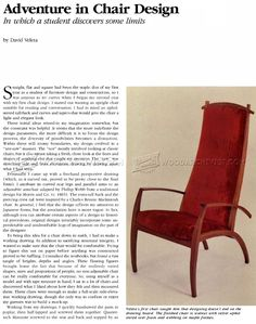 Armchair Plans - Furniture Plans