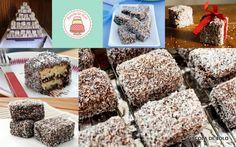 Passo a passo de Lamingtons – bolo de chocolate com coco ralado!!