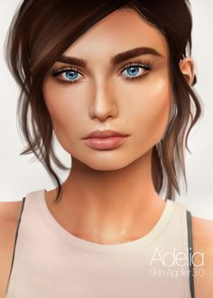 Genesis Adeia  Skin #Appliers 3.0. for #Eva #Bento #Head! #Bento-Shape Included! ( Try DEMO if you want this skin or make up for oldest 2.0 heads) The #Epiphany opens on January 15th 2017.