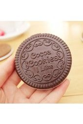 Sweet Cocoa Cookies Shape Cosmetic Mirror