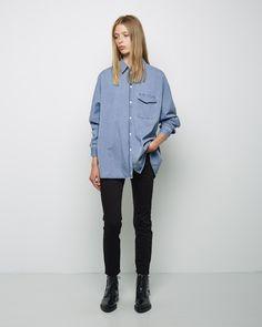 Acne Studios Jetson Oversized Denim Shirt | La Garçonne