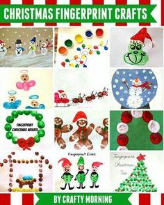 Christmas Fingerprint Crafts
