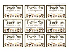 Fashionable Moms: Girl Scouts: Brownies FREE Printable Thank You Cards