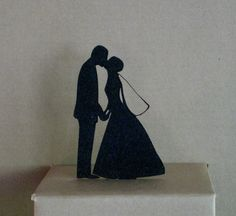 Wedding Cake Topper - matrimonio on Etsy, € Custom Wedding Cake Toppers, Wedding Topper, Wedding Cakes, Wedding Groom, Our Wedding, Dream Wedding, Wedding Stuff, Wedding Silhouette, Silhouette Cake