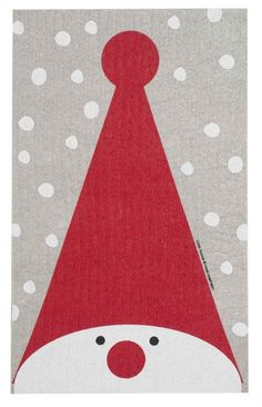 Discover the Swedish Dishcloth - Tall Hat Tomte - 9 inch x 6 inch - Wiping up never looked this good.absorbs 15 times it weight in water! Christmas Card Crafts, Christmas Canvas, Homemade Christmas Cards, Christmas Activities, Xmas Cards, Christmas Art, Christmas Projects, Holiday Crafts, Christmas Decorations