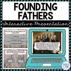 Founding Fathers Interactive Google Slides™ Presentation is the Perfect reading comprehension activity during distance learning! This presentation focuses on Founding Fathers, John Adams, George Washington, Thomas Jefferson and Benjamin Franklin. This social studies activity is self checking and interactive. Use it when introducing or reviewing the Founding Fathers with upper elementary and middle school students. #foundingfathersactivities #4thgrade #5thgrade #6thgrade #7thgrade #8thgrade Middle School History, Middle School Science, Social Studies Activities, Learning Activities, History Activities, 4th Grade Science, Elementary Science, Learning Style Inventory, Upper Elementary Resources