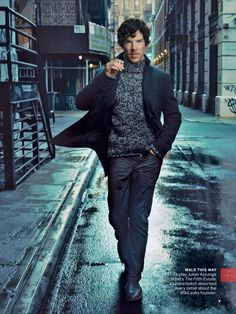 Benedict, you're killing me here!! Holy crap he's stunning!! US Vogue shot by Annie Leibovitz