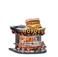 """Department 56: Products - """"Franky's Hot Dogs"""" - View Lighted Buildings"""