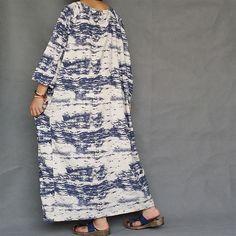 Women Plus Size Dress Loose Fitting Cotton Linen by loosedress2015