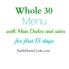 Paleo Recipes, may have to substitute Whole 30 friendly choices. Says it is but recipes are not, good ideas though