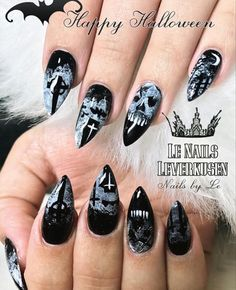 12 Scarily Stunning Halloween Nail Designs - Page 6 of 31 - Easy Hairstyles Halloween Nail Designs, Halloween Nail Art, Short Nail Designs, Cute Nail Designs, Short Nails, Cute Nails, Easy Hairstyles, Hair Styles, Beauty
