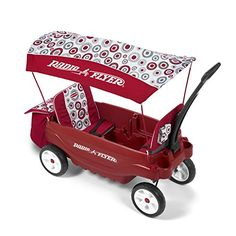 Kids' Pull-Along Wagons - Radio Flyer BuildAWagon Plastic  Rubber Tires Canopy Storage Seat Pads Whirl Fashion * Check this awesome product by going to the link at the image.