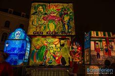 Laternenausstellung auf dem Münsterplatz #Basel am Fasnachts-Dienstag der Basler #Fasnacht 2013 (19.02.2013) Basel, Swiss Travel, Travel Expert, Dark Night, Switzerland, Carnival, Painting, Beautiful, Art