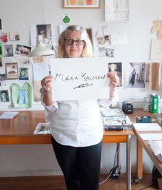Studio Tour: Maira Kalman | Design*Sponge - I love Maira Kalman!!
