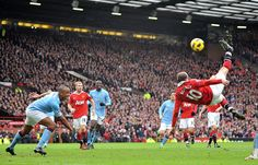 Bicycle Kick... Wayne Rooney, striker, Manchester United & Engand