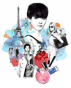 Fashion Collage Illustrations by Berto Martinez