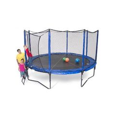 14' SoftBounce Round Trampoline with Enclosure. Shop now - FREE Shipping! #trampoline