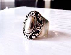 TAXCO Sterling Silver 925 Mexico Modernist Dome Scroll Vine Jewelry Size 7 Ring #Unbranded