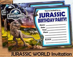 free printable jurassic world invitations - Google Search