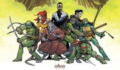TMNT__This is one of the best covers on the current IDW run of TMNT. It's from Secret History of the Foot Clan.