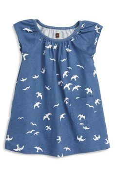 Tea Collection Kookaburra Flutter Dress (Baby Girls)