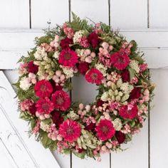 Terrain Zinnia Bouquet Wreath #shopterrain