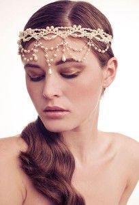 Amazing vintage inspired 1920's headband Dripping in pearl beads over the forehead. made by Her curious Nature #hercuriousnature.