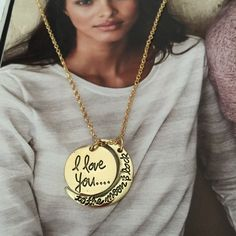 I Love You to the Moon and Back Necklace Beautiful and new! Jewelry Necklaces