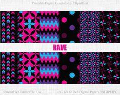 RAVE Digital Paper Commercial Use Digital Paper HOT by ClipArtBrat