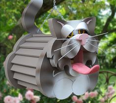 Crazy cat lady bird house