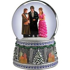 Harry Potter, Hermione, and Ron at Yule Ball Waterglobe