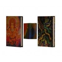 Lockable Pocket Notebook with Magnetic Flop Feature in combo with ganesha pocket notebook only at http://nightingale.co.in/