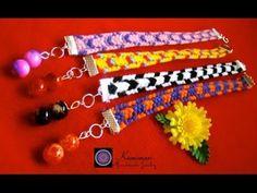 Kumimari 8: Square Loom 10 Strand-Bracelet/ Kumihimo Cuadrado Pulsera de...