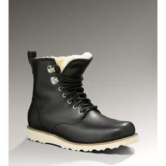 UGG Hannen Men's Black Boots (€195) found on Polyvore