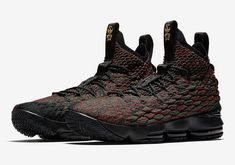 The Nike LeBron 15 BHM is officially introduced and it's dropping at Nike stores on January Boys Basketball Shoes, Boys Shoes, Buy Basketball, Volleyball Shoes, Sports Shoes, Men's Shoes, Casual Sneakers, All Black Sneakers, Fashion Shoes