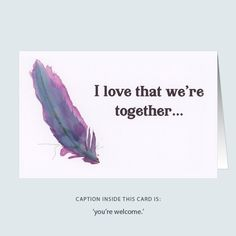'realist feather' greeting card