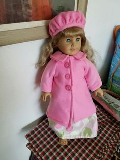 Paris pink coat with beret as requested by my granddaughter!