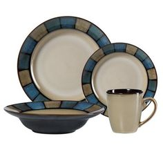 Pfaltzgraff Everyday Crestview 48 Piece Dinnerware Set, Service for 12 | eBay $200