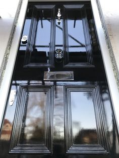 Black Gloss Victorian Door...Simply Gorgeous