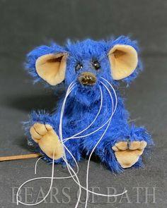 Sapphire a 5.5 inch Mohair Artist Mouse Bear by Bears of Bath #BearsofBath Bears, Sapphire, Teddy Bear, Artist, Artists, Teddy Bears, Bear