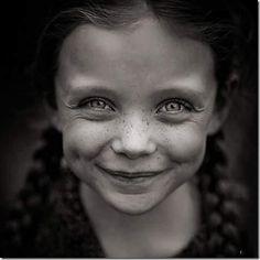 Adorable freckles.