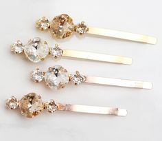 Set of Sparkling Swarovski Hairpins from Acute Designs! Perfect for brides, bridesmaids, stocking stuffers, etc. Get yours here - http://www.acutedesignsshop.com/collections/bridal-collection/products/sparkling-swarovski-hairpins-bridal-wedding-holiday-special-occasion