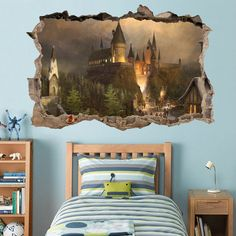 Hogwarts Harry Potter Smashed Wall  CHOOSE DESIRED SIZE - You may choose between…