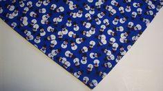 Dog Bandana Buster Brown Tie On Slide On Blue Snowmen Dog Apparel Cat  XS S M L #CustommadebyLinda
