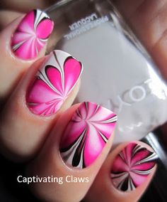 water marble nails, over 50 unique water marble nailo art ideas http://www.pinterest.com/daisyojeda855/water-marble-nail-designs/